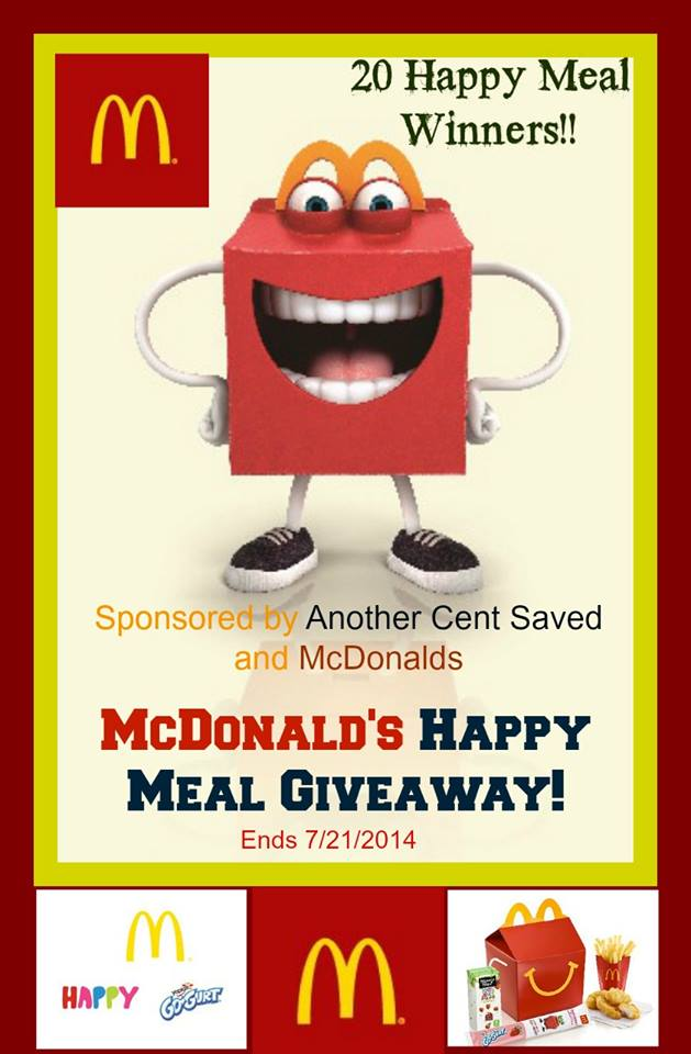 McDonald's 20 Happy Meals Giveaway - Powered By Mom