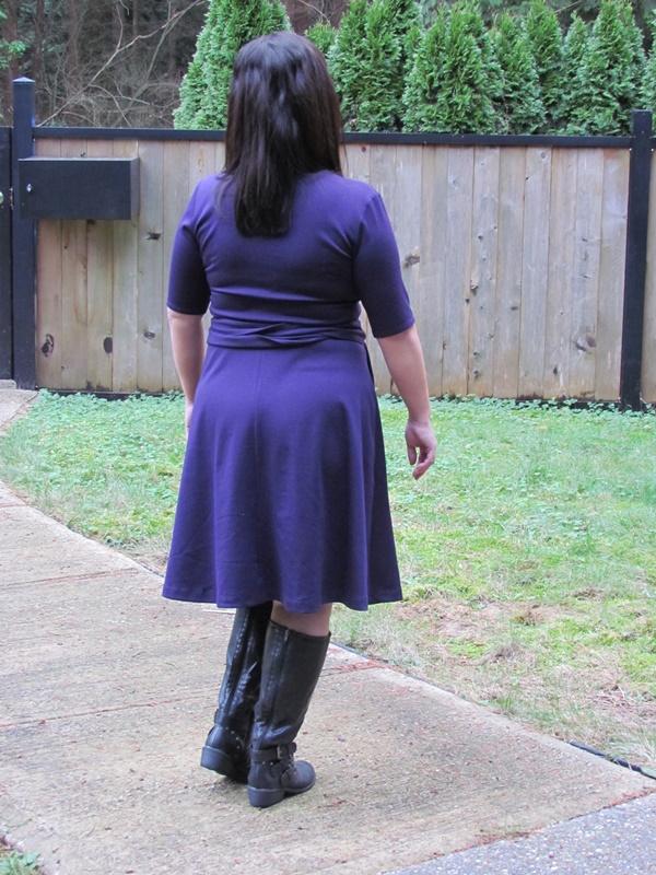 abbey post dress back