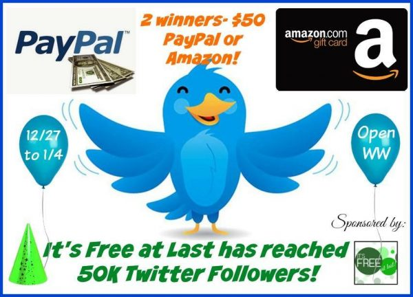 amazon paypal Twitter 50K Giveaway