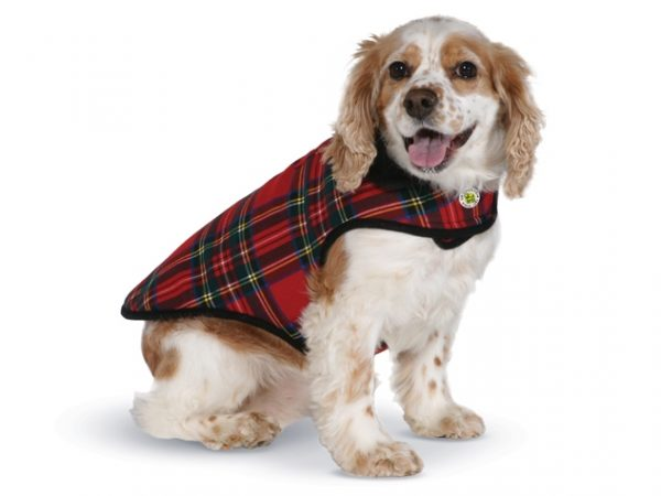 Plaid-fleece-lined-dog-coat-front-view-633x475
