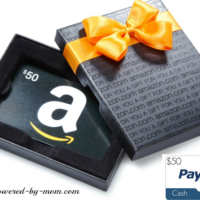 50 amazon or paypal gift box
