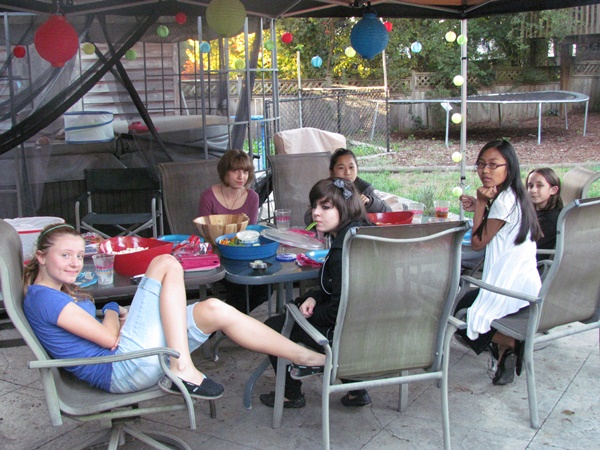 teen birthday party bbq group