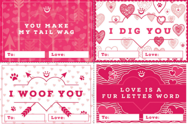 valentine cards dogs