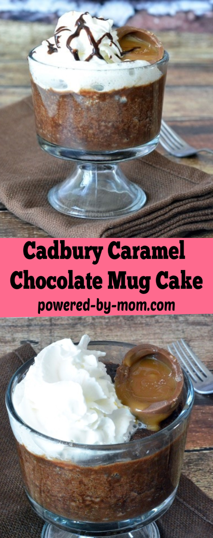 Cadbury Caramel Egg Mug Brownie Recipe. Make it in the microwave, no bowls required. Easter is almost here but this yummy treat is fabulous any time of the year.