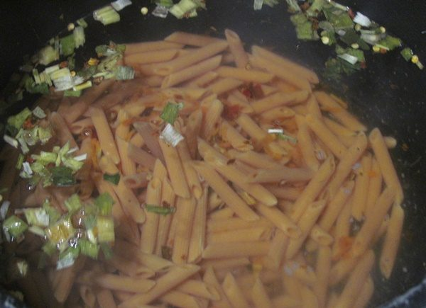 Italian Penne cooking