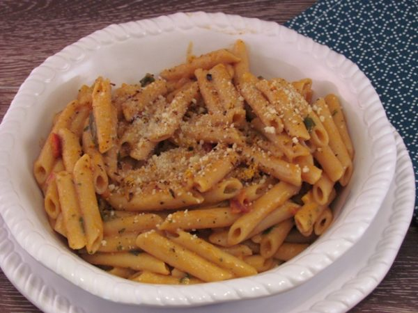 Modern Table Italian Penne served