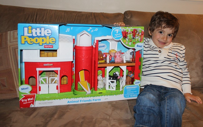 Luka with Little People Animal Farm