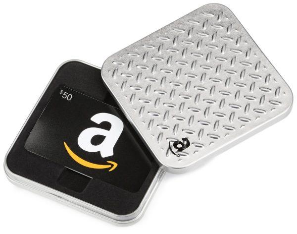 50 amazon silver box