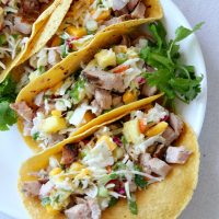 8. Grilled Pork Tacos With Tropical Slaw
