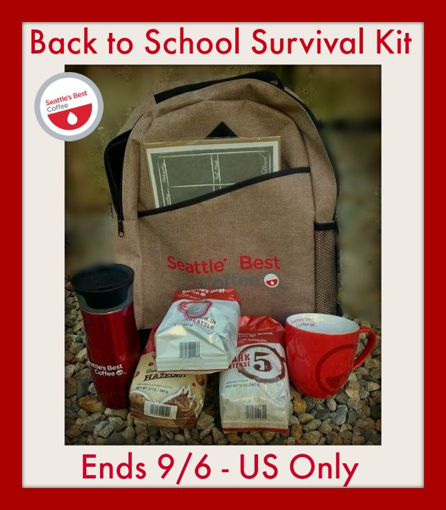 Seattle's Best prize pack Back to school