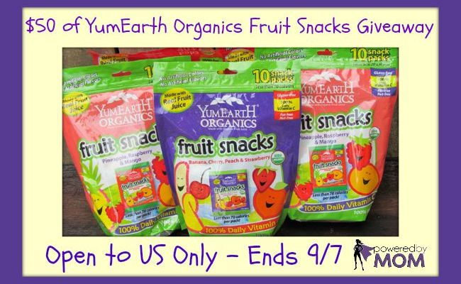 $50 YumEarth Organic Fruit Snacks Giveaway