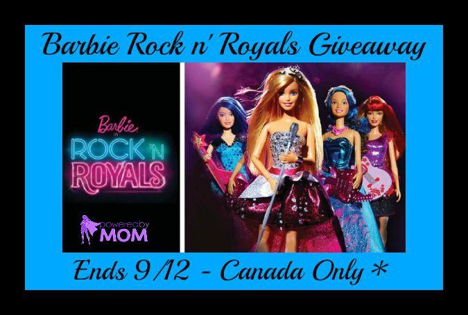 Barbie rock n royals button