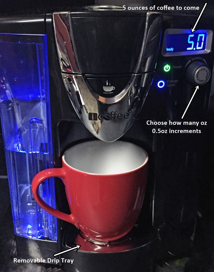 icoffee opus red cup