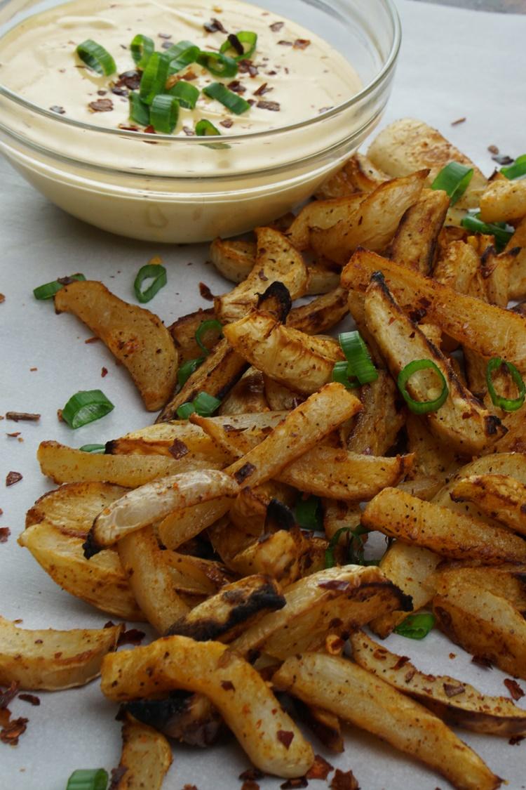 turnip fries peanut dipping sauce (4)