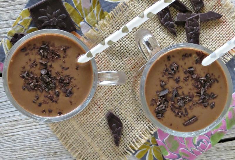 dark chocolate peanut butter banana smoothie (4)