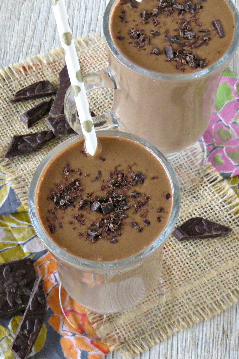 Dark Chocolate Peanut Butter Banana Smoothie Recipe