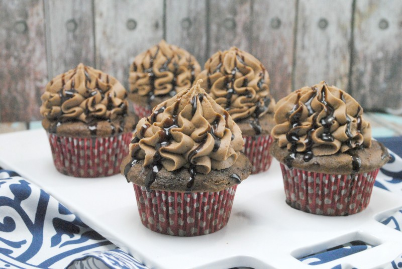 gooey fudge cupcakes 3