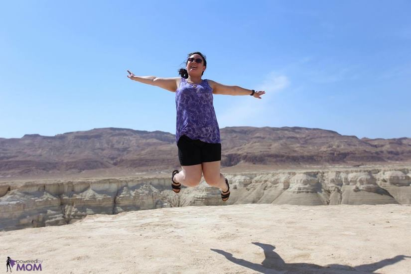 Naot Kayla Sandals Jumping in the Judean desert