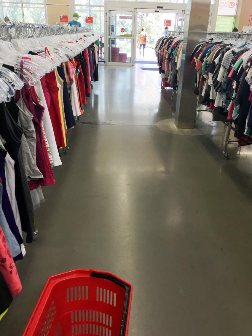 Aisles and aisles of clothes=heaven