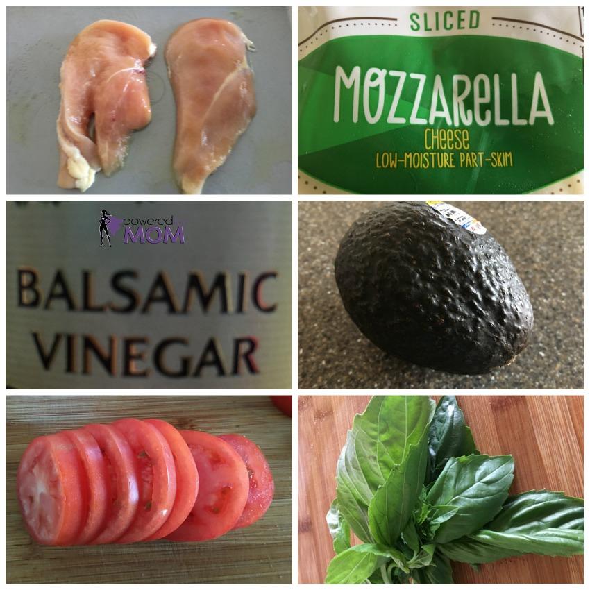 Avocado Chicken Caprese Salad ingredients