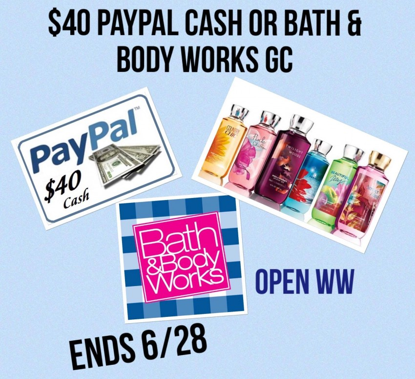 bath and bodyworks with paypal