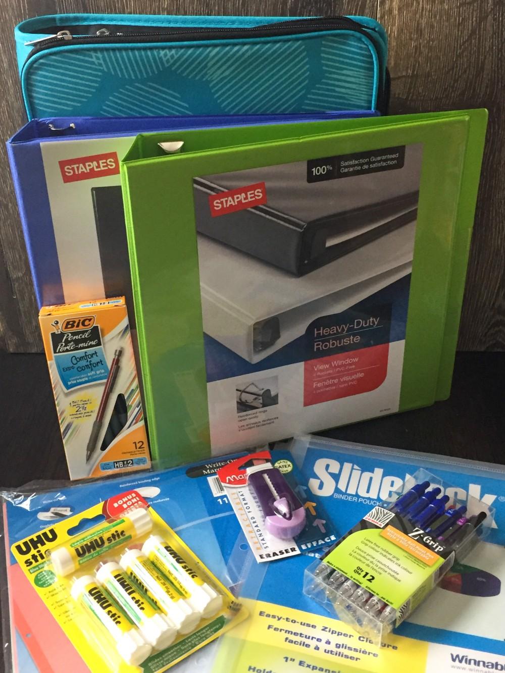 Staples school supplies