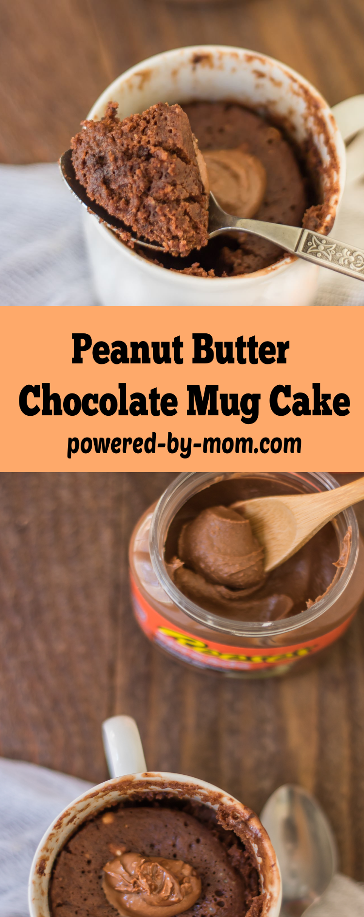 Chocolate Peanut Butter Mug Cake that is oh so yummy but quick & easy to make.