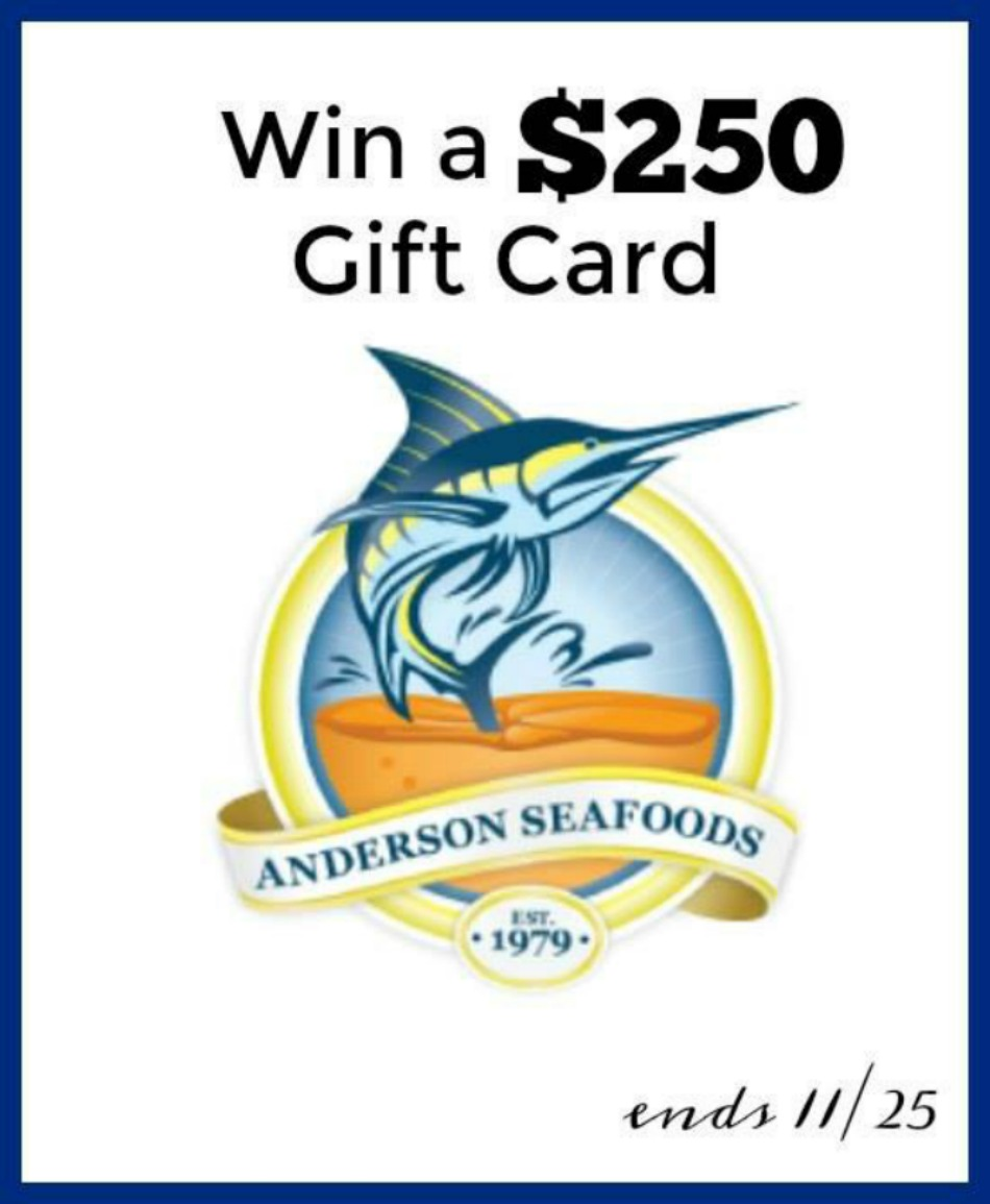 $250 Anderson Seafood Gift Card Giveaway!