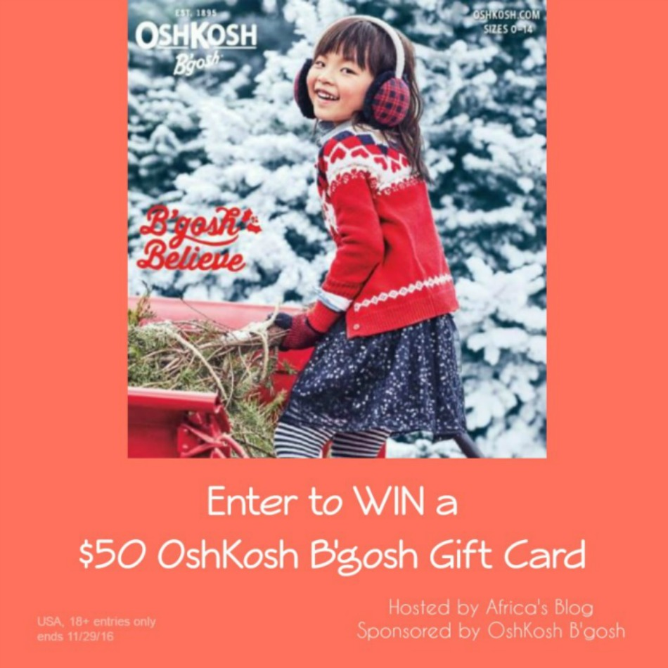 $50 OshKosh B'gosh Gift Card Giveaway