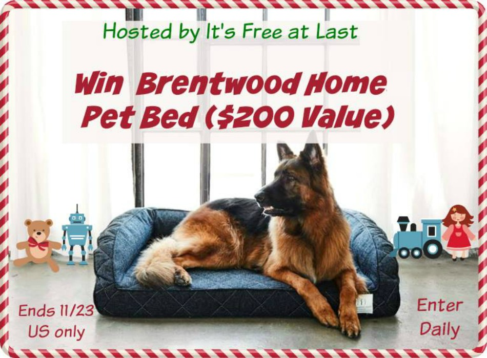 Brentwood Home Pet Bed Giveaway!