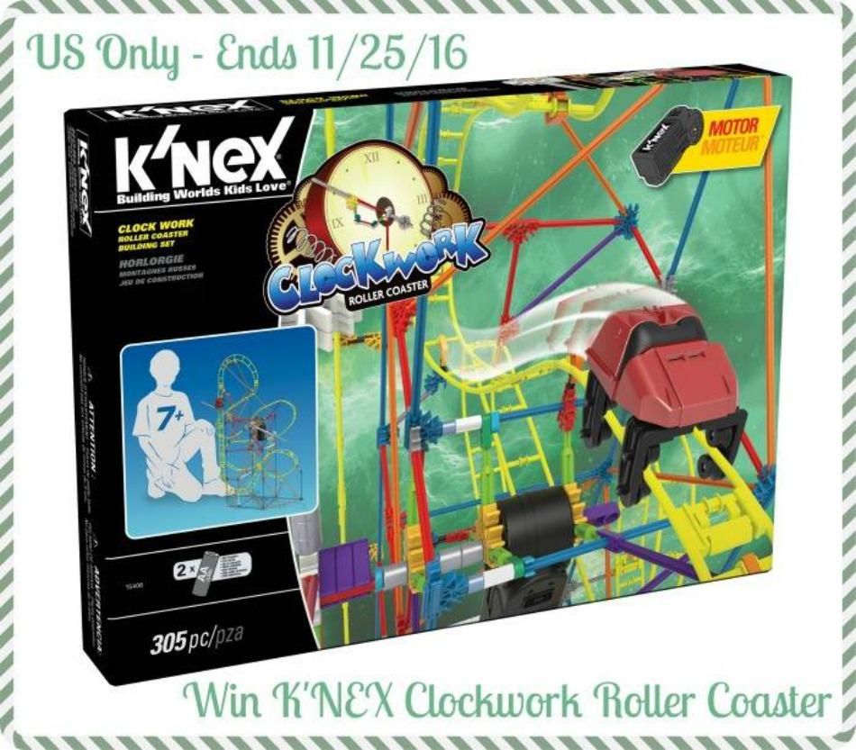 K'NEX Clock Work Roller Coaster Build Set Giveaway!