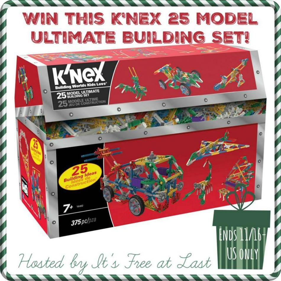 K'nex 25 Model Ultimate Building Set giveaway button
