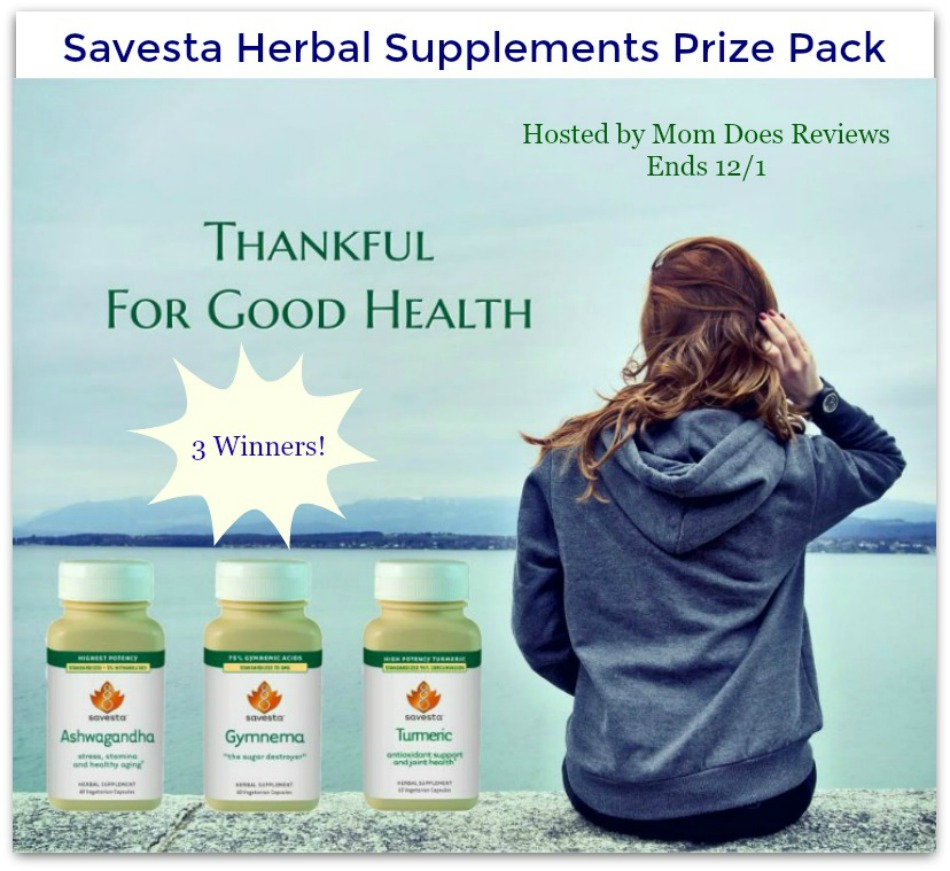 Savesta Herbal Supplements Prize Pack Giveaway