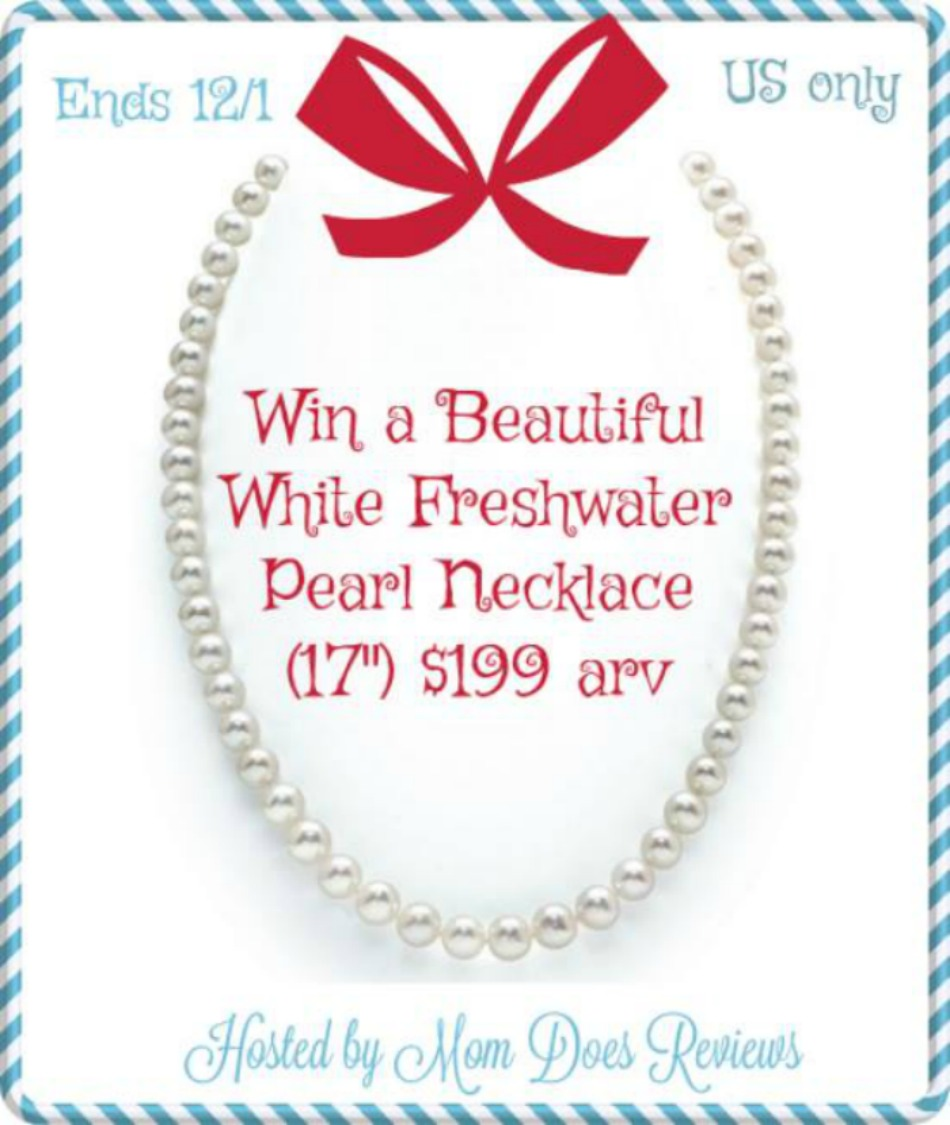 White Freshwater Pearl Necklace Giveaway