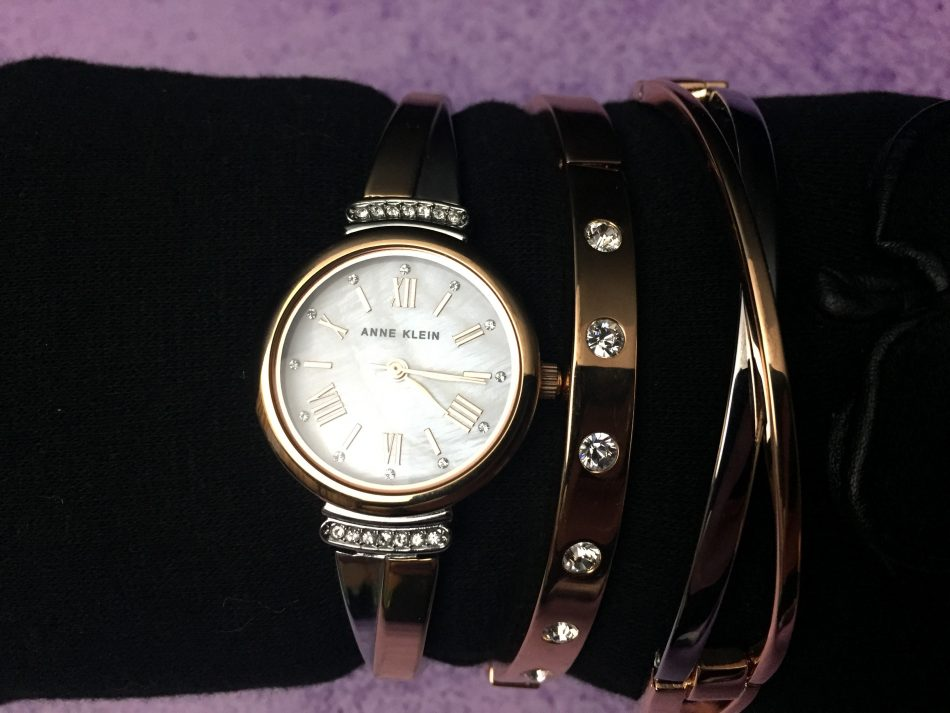 Anne klein rose gold watch and bracelet set powered by mom for Anne klein rose gold watch set