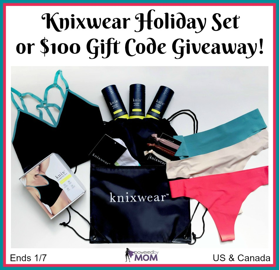 Knixwear Holiday Set or $100 Gift Code Giveaway!
