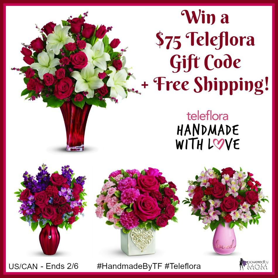 $75 Teleflora Gift Code Giveaway