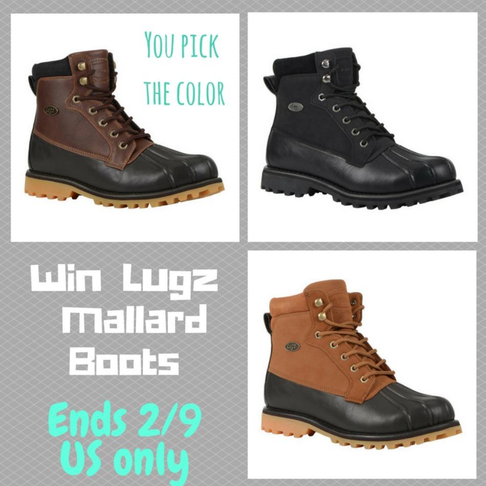 LUGZ Mallard Boots Giveaway