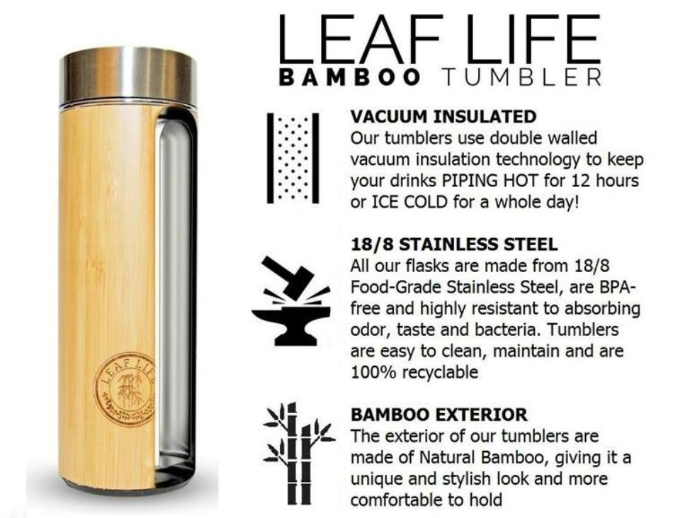 LeafLife Bamboo Tea Tumbler