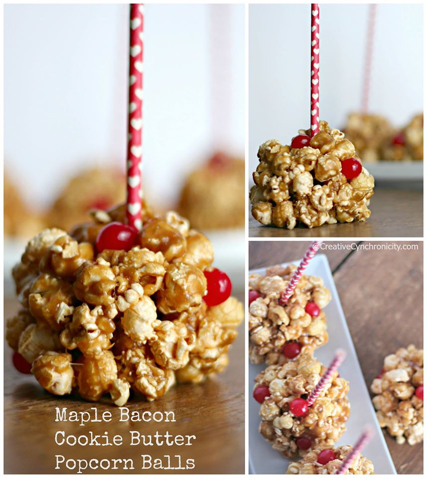 Maple Bacon Cookie Butter Popcorn