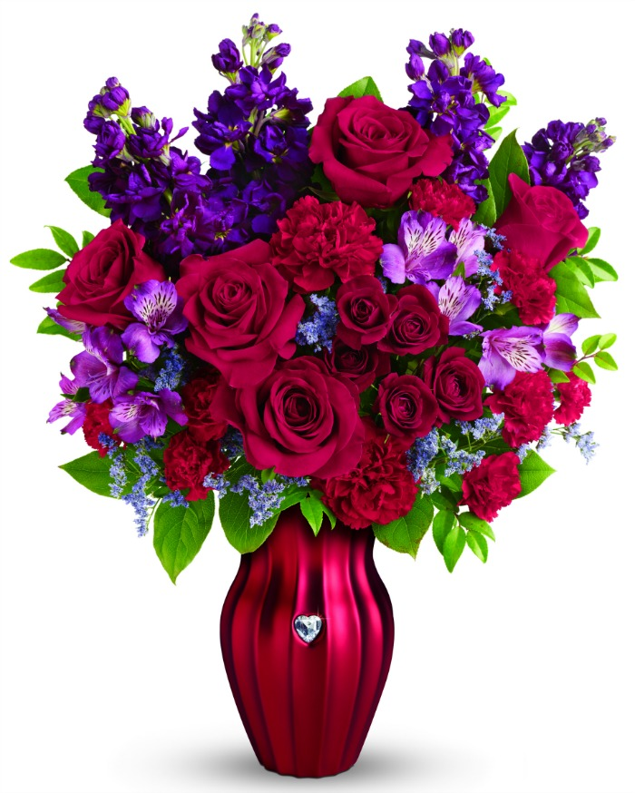 teleflora shining heart bouquet
