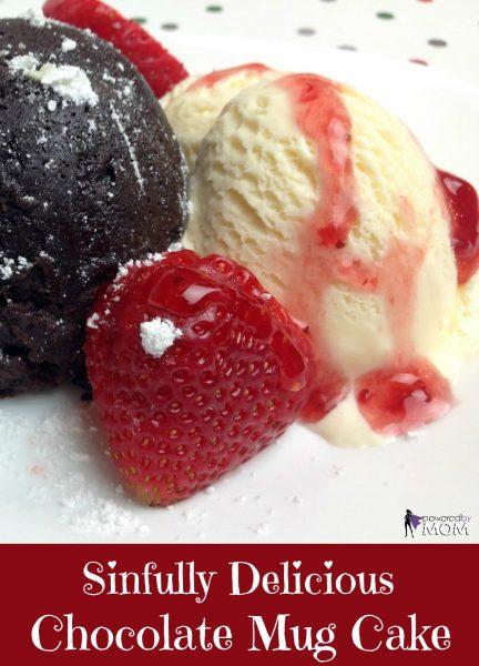 Sinfully Delicious Gluten Free Chocolate Mug Cake banner 2b