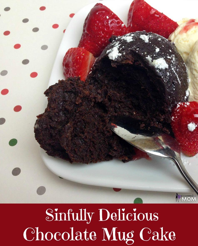 Sinfully Delicious Gluten Free Chocolate Mug Cake banner 3b