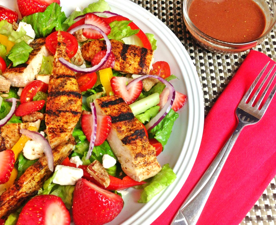 Grilled Chicken Salad with Strawberries