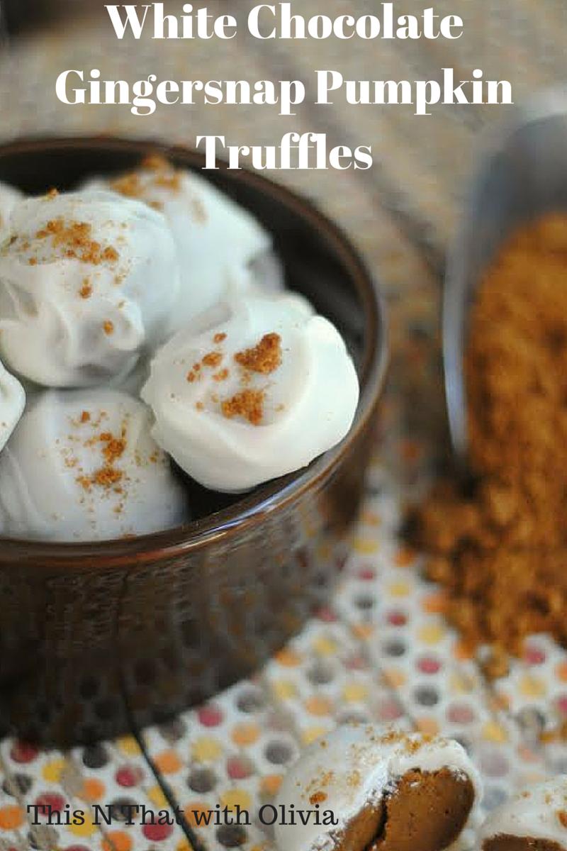 White Chocolate Gingersnap Pumpkin Truffles