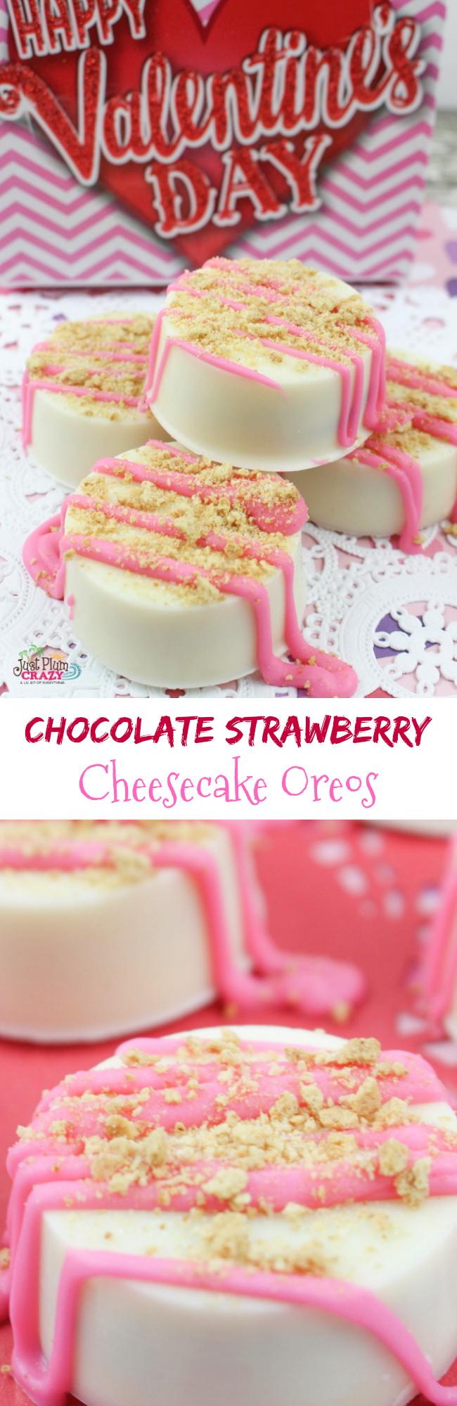 chocolate strawberry cheesecake Oreos