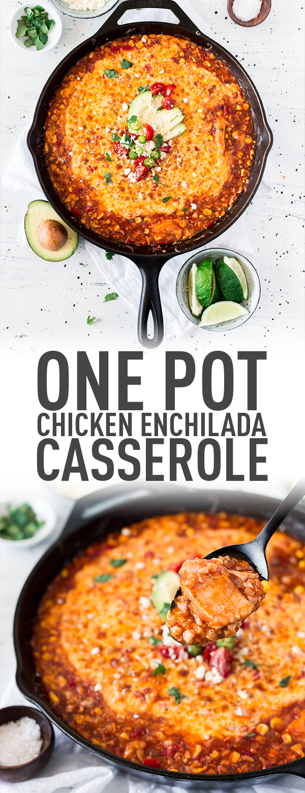 Healthier but delicious chicken enchiladas. Skip the rice and have it with cauliflower rice!