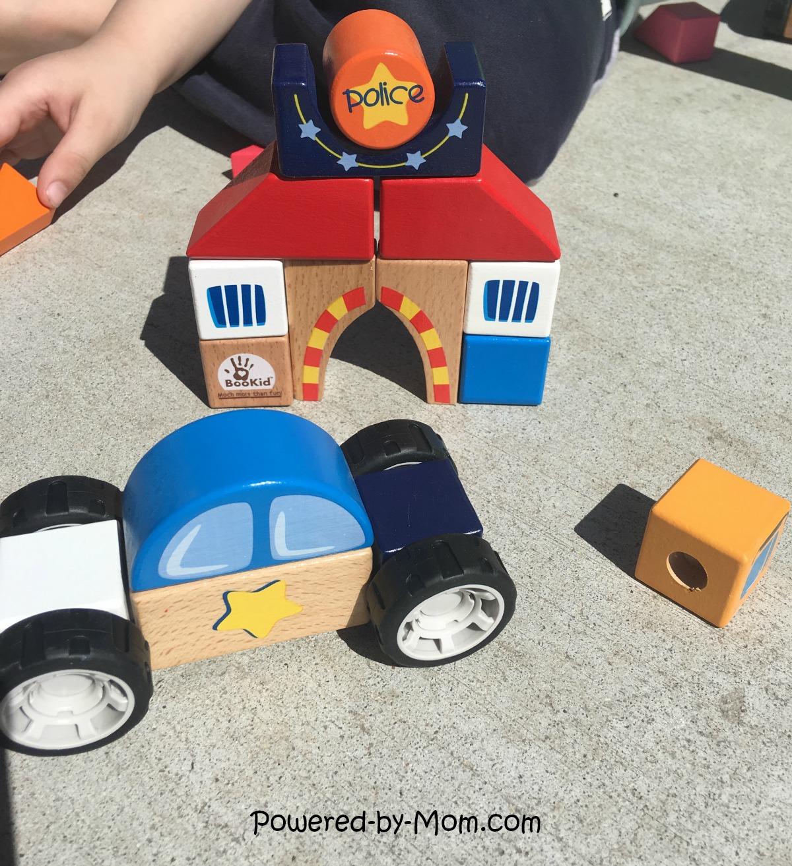 BooKids Wood Blocks Police Car - Powered by Mom