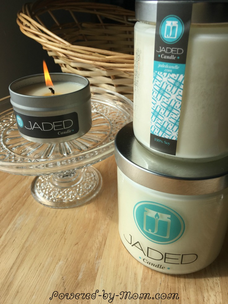 Jaded Soy Candles are made with essential oils