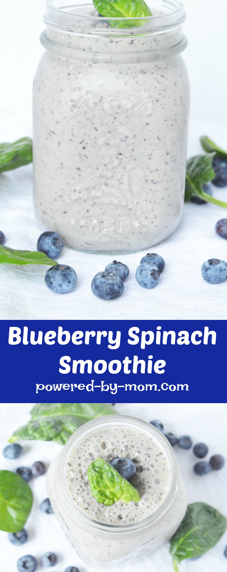 Blueberry Spinach Smoothie oh so yummy you forget it's healthy